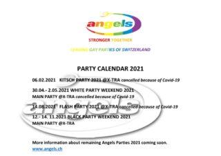 PARTY CALENDAR 2021